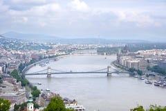 Panorama de Budapest Foto de Stock