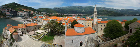 Panorama de Budva. Montenegro. Fotos de Stock Royalty Free