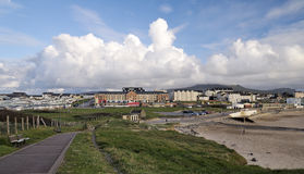 Panorama de Bundoran Photographie stock
