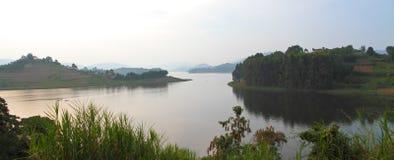 Panorama de Bunyoni del lago Imagen de archivo libre de regalías