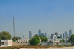Panorama de Burj Dubaï Photographie stock libre de droits