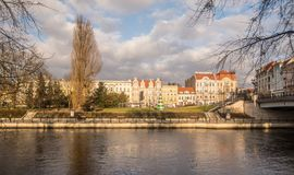 Panorama de Bydgoszcz, Polonia Imagen de archivo libre de regalías