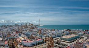 Panorama de Cádiz, España Foto de archivo