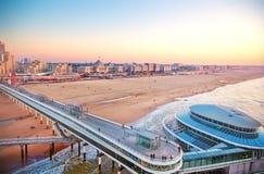 Panorama de côte néerlandaise photos libres de droits
