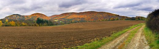 Panorama de côtes d'automne Image libre de droits