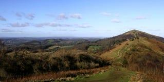Panorama de côtes de Malvern Images libres de droits