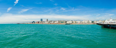 Panorama de côte de Brighton Image libre de droits