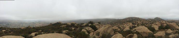 Panorama de California Rocklands Foto de archivo libre de regalías