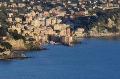 Panorama de Camogli Imagens de Stock