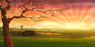 Panorama de campagne illustration stock