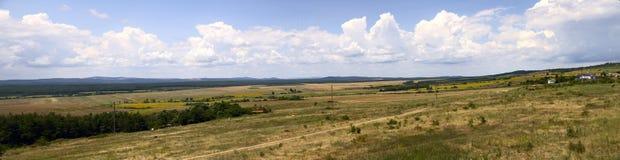 Panorama de campos búlgaros Imagem de Stock