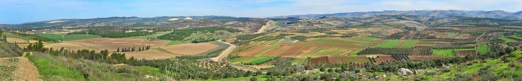 Panorama israelí del paisaje Imagen de archivo libre de regalías
