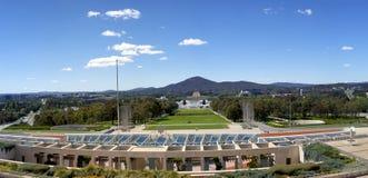 Panorama de Canberra de la casa del parlamento fotos de archivo
