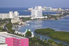 Panorama de Cancun, Mexique Photographie stock libre de droits