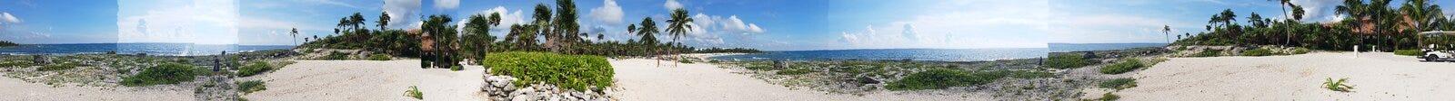 Panorama de Cancun imagens de stock royalty free