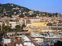 Panorama de Cannes Image stock