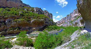 Panorama de canyon de Lumbier dans l'Espagnol Navarra Photos stock