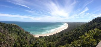 Panorama de cap Byron photographie stock