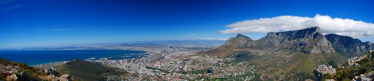 Panorama de Capetown Photos stock