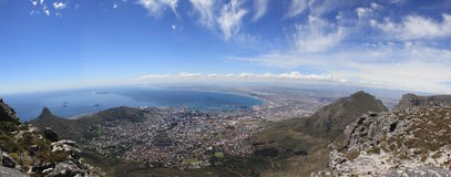 Panorama de Capetown Photo stock