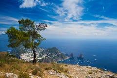 Panorama de Capri Imagen de archivo libre de regalías