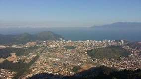 Panorama de Caraguatatuba Imagen de archivo libre de regalías
