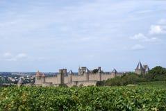 Panorama de Carcasonne Imagens de Stock Royalty Free