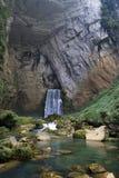 Panorama de cascade à écriture ligne par ligne Photos stock