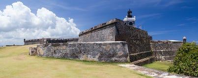 Panorama de Castillo San Felipe del Morro, San Juan Puerto Rico Fotografia de Stock