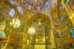 Panorama de cathédrale de Vank à Isphahan, Iran Photographie stock