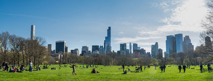 Panorama de Central Park, faisant face à des sud Photographie stock