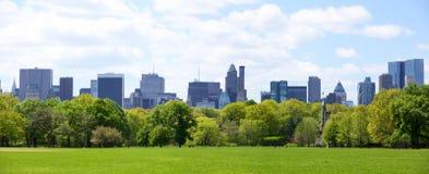 Panorama de Central Park y de Manhattan Imagen de archivo