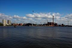 Panorama de centrale de centrale à charbon Images stock