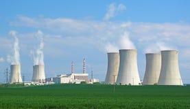 Panorama de centrale nucléaire Photographie stock libre de droits