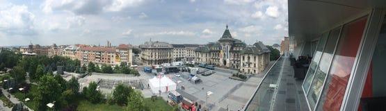 Panorama de centre de Craiova, Roumanie Photographie stock libre de droits