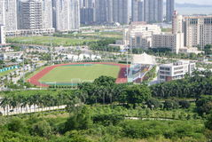 Panorama de centre de sports de xixiang de Shenzhen Photo stock