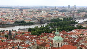 Panorama de centre historique de Prague clips vidéos