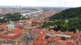 Panorama de centre historique de Prague banque de vidéos