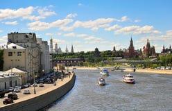 Panorama de centre de la ville de Moscou, Russie Image libre de droits