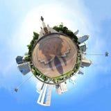 Panorama de cercle dans la ville Photographie stock libre de droits