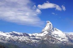 Panorama de Cervino, Suiza Fotografía de archivo