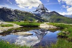 Panorama de Cervino, Suiza Foto de archivo