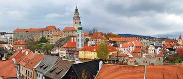 Panorama de Cesky Krumlov Images libres de droits