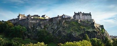 Panorama de château d'Edimbourg Photo libre de droits
