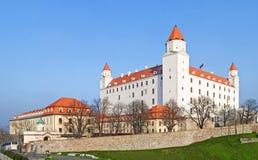 Panorama de château de Bratislava Photographie stock