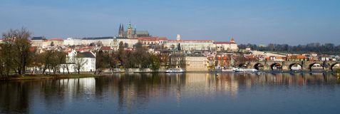 Panorama de château de Prague Photo libre de droits