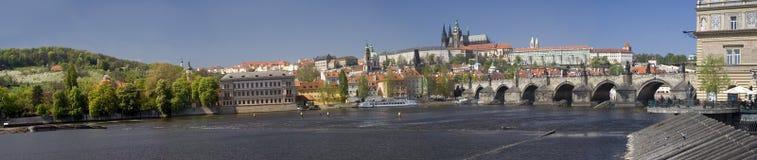 Panorama de château de Prague Photographie stock