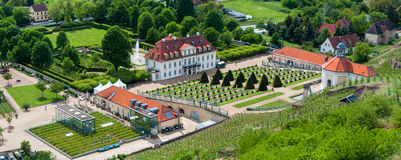 Panorama de château de Wackerbarth, Radebeul Photo stock