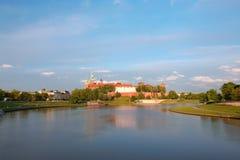 Panorama de château de Wawel Images stock