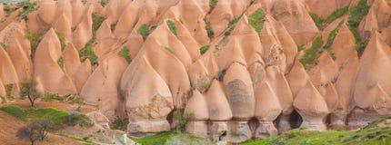 Panorama de chaminés feericamente Foto de Stock Royalty Free